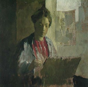 Lucia Mathews Self-Portrait, c. 1899